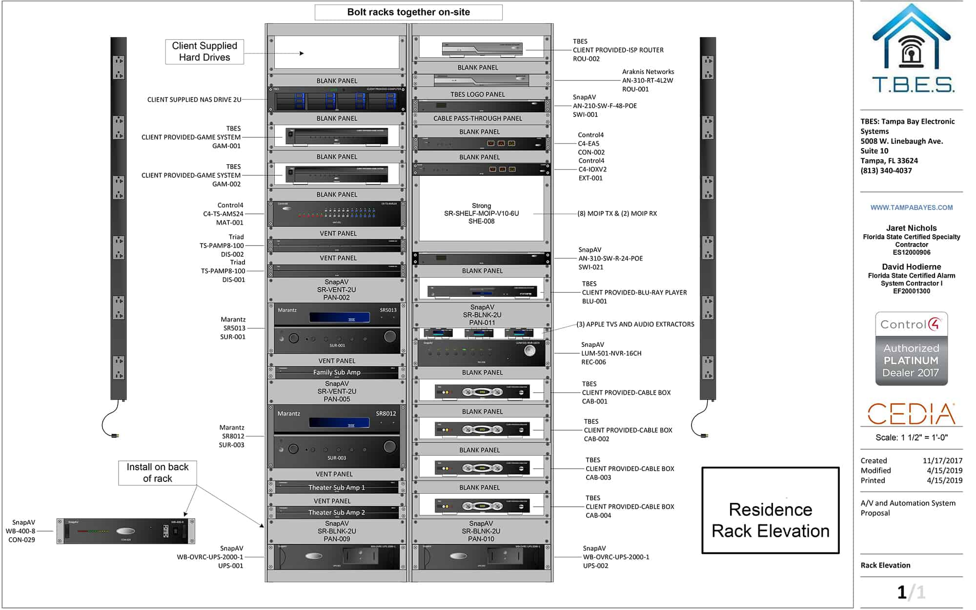 Visio Rack Elevation